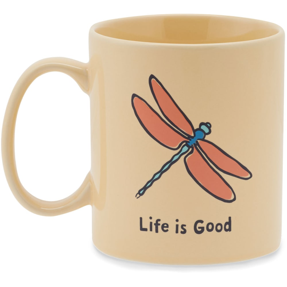 LIFE IS GOOD Dragonfly Jakes Mug - HAPPY YELLOW