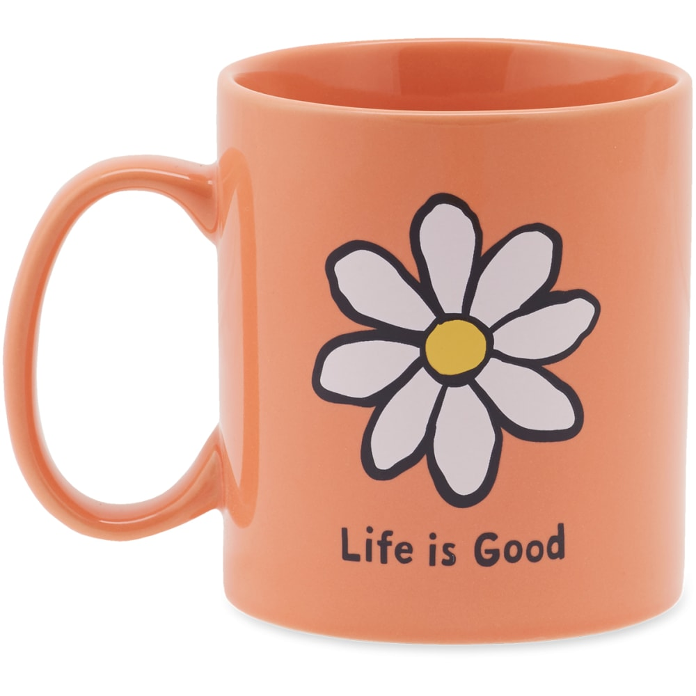 LIFE IS GOOD Daisy Jake's Mug - FRESH CORAL