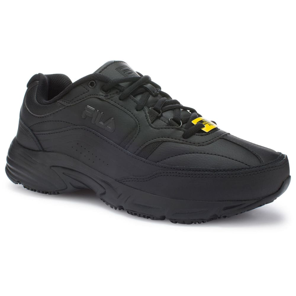 FILA Men's Memory Workshift Service Shoes, Black 8.5