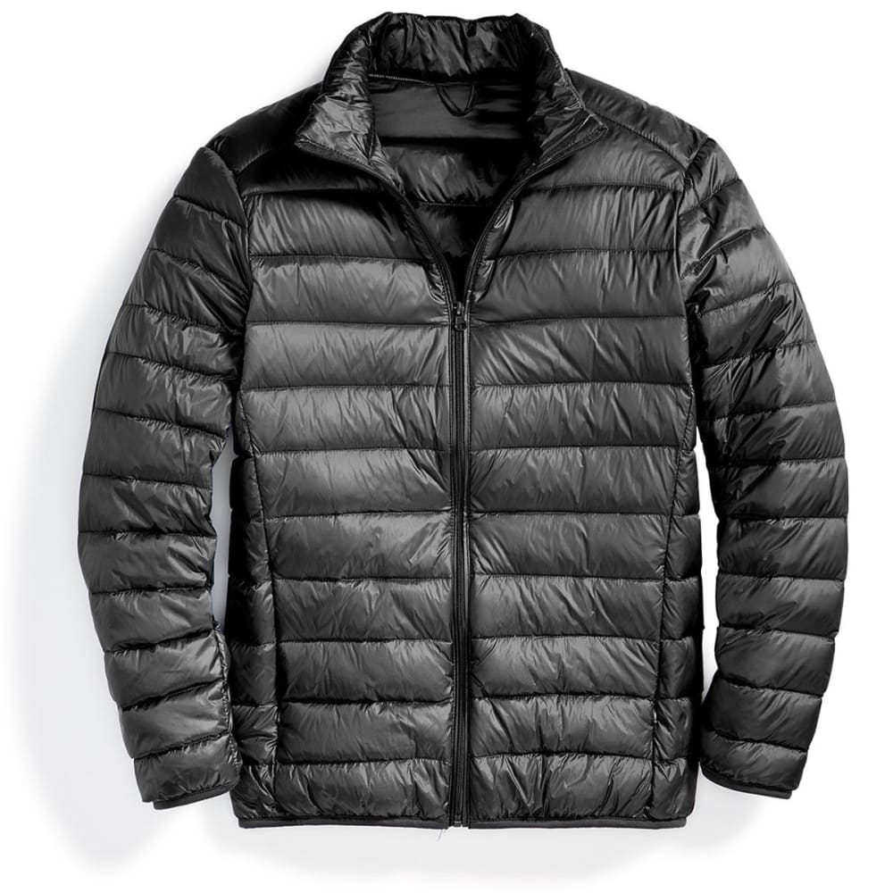 Men's Packable Down Jacket - BLACK