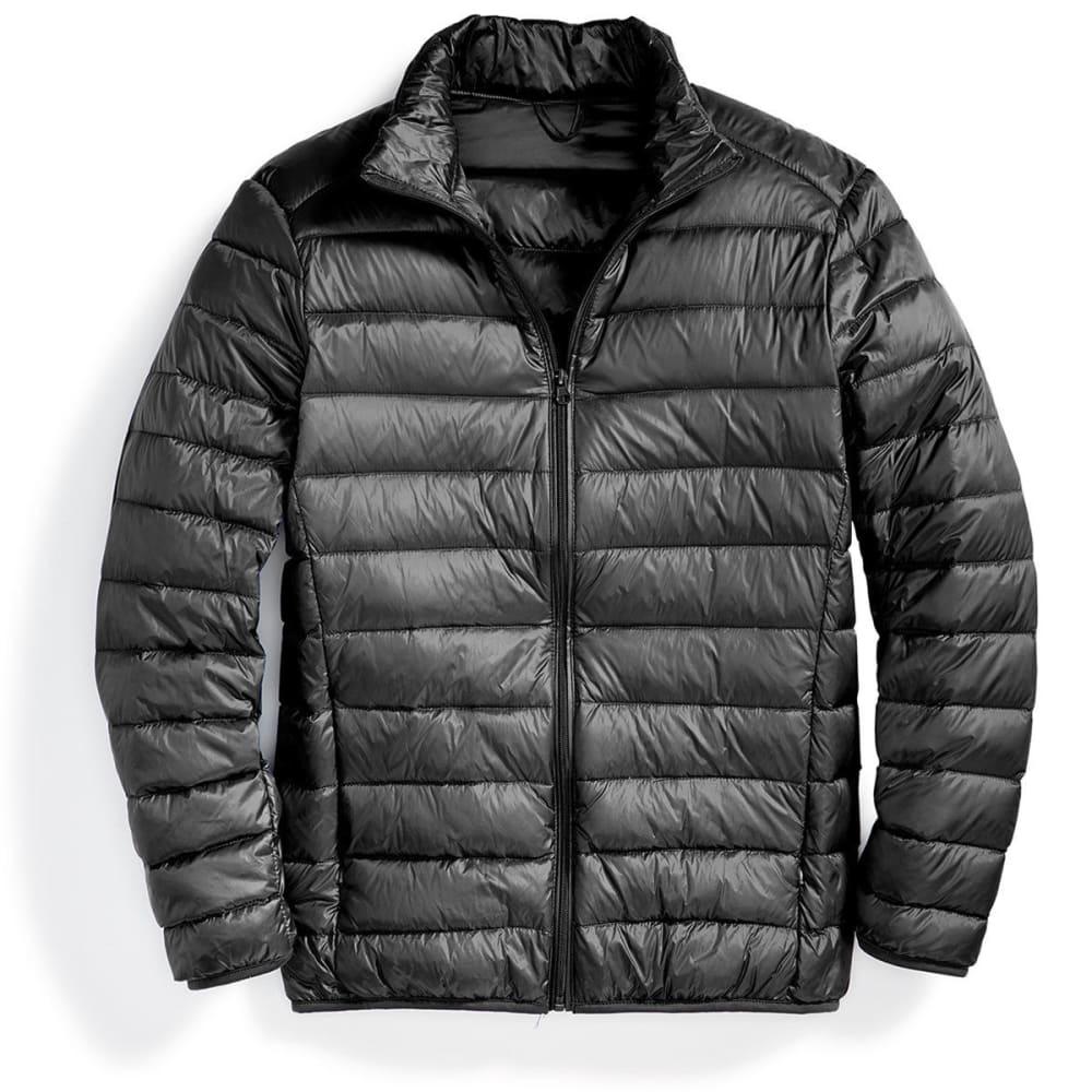 Men's Packable Down Jacket - BLACK
