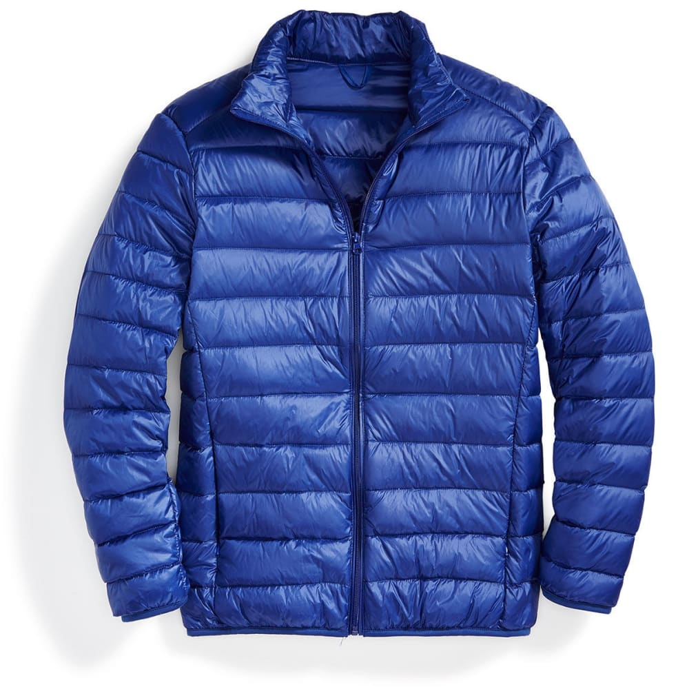 Men's Packable Down Jacket - MEDIUM BLUE