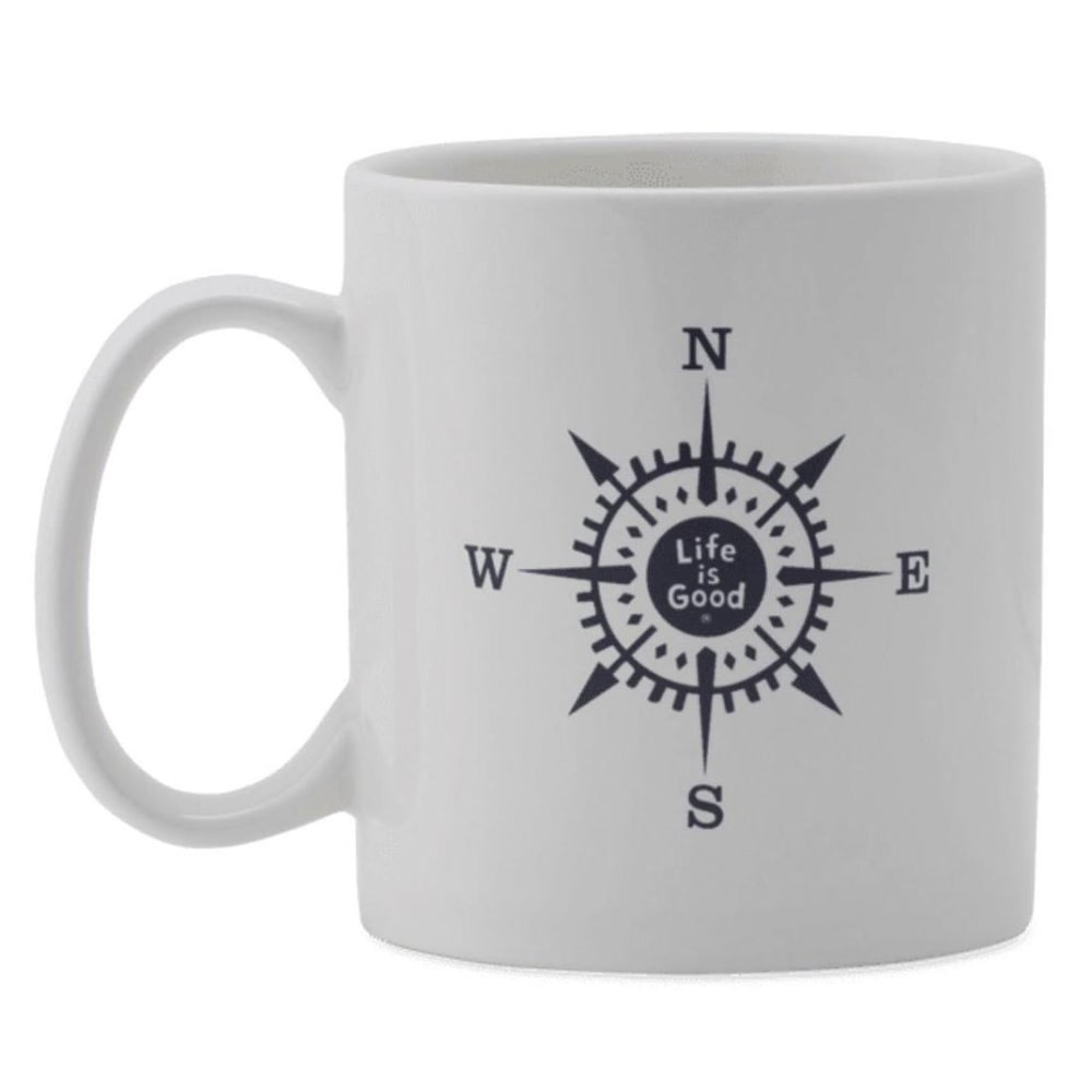 LIFE IS GOOD Compass Jake's Mug - CLOUD WHITE