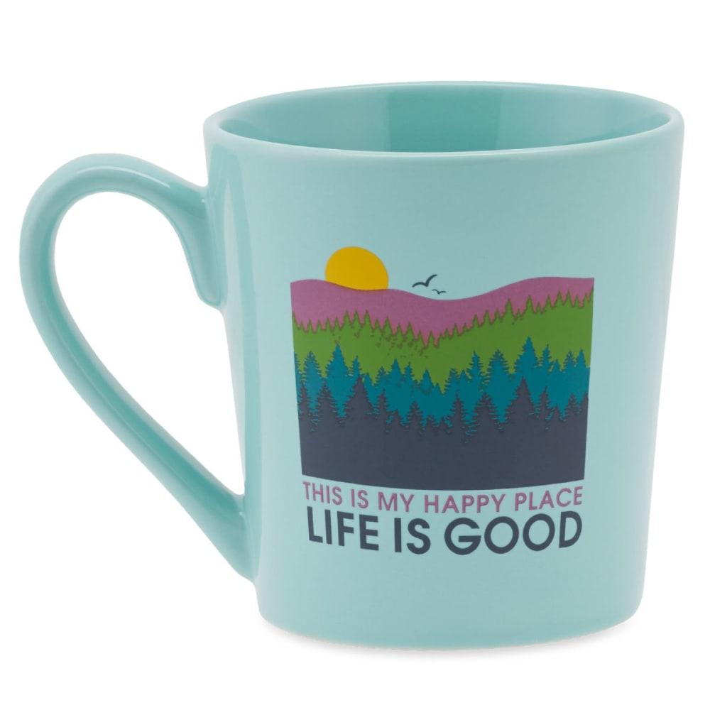 LIFE IS GOOD Happy Forest Everyday Mug - COOL AQUA