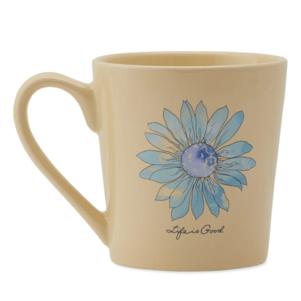LIFE IS GOOD Watercolor Daisy Everyday Mug - HAPPY YELLOW