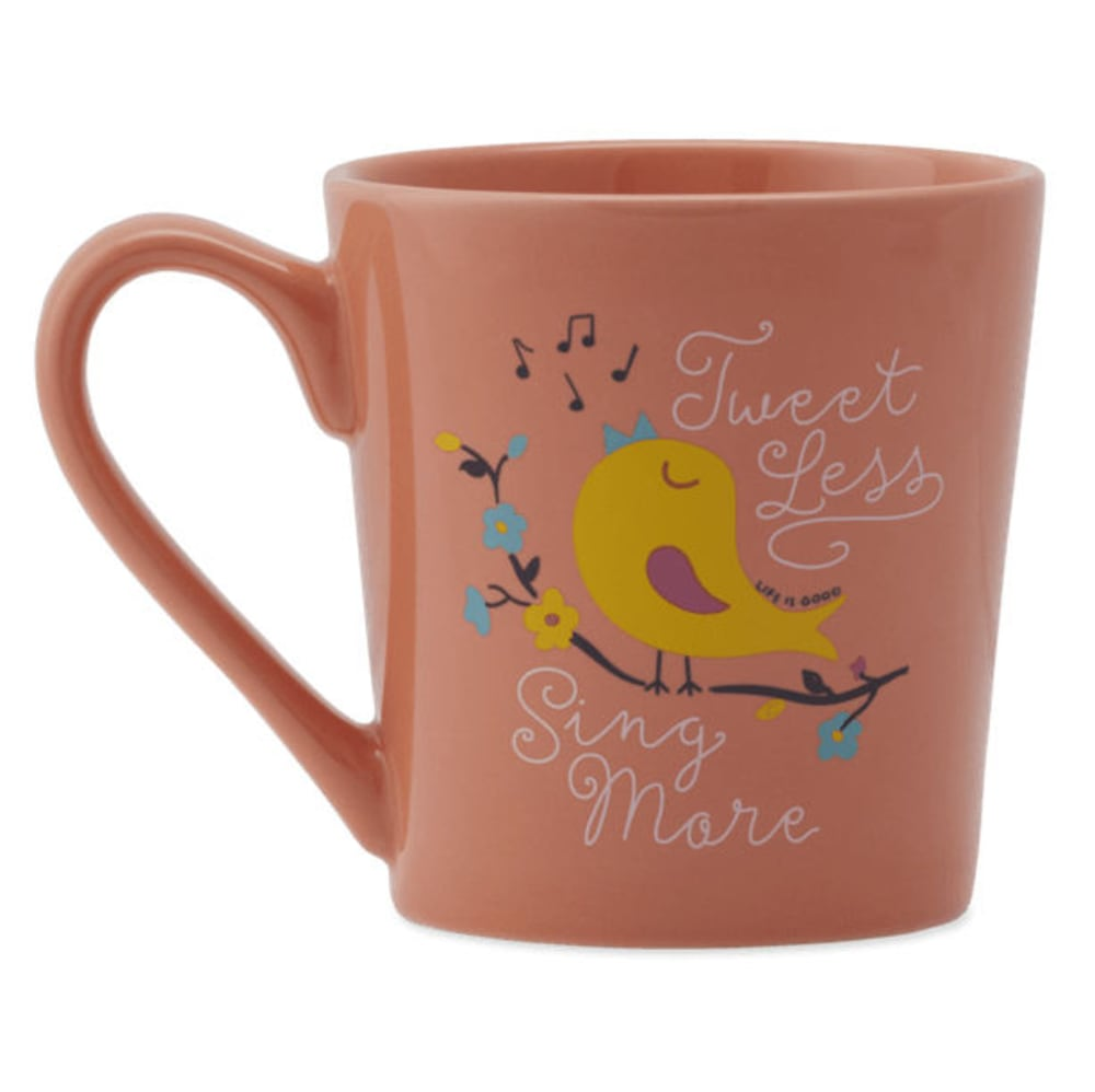LIFE IS GOOD Tweet Sing Everyday Mug - FRESH CORAL