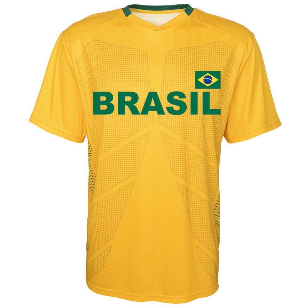 Outerstuff Men's Brazil Short-Sleeve Jersey Tee - Yellow, XXL