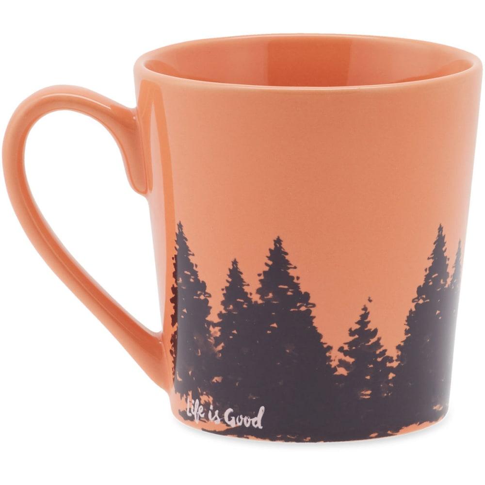LIFE IS GOOD Tree Wrap Everyday Mug - FRESH CORAL