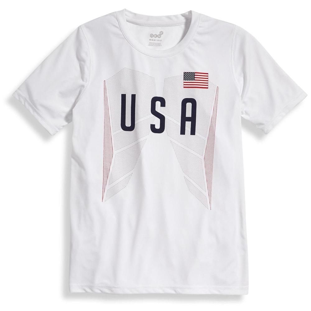 OUTERSTUFF Big Boys' USA Performance Short-Sleeve Tee - WHITE