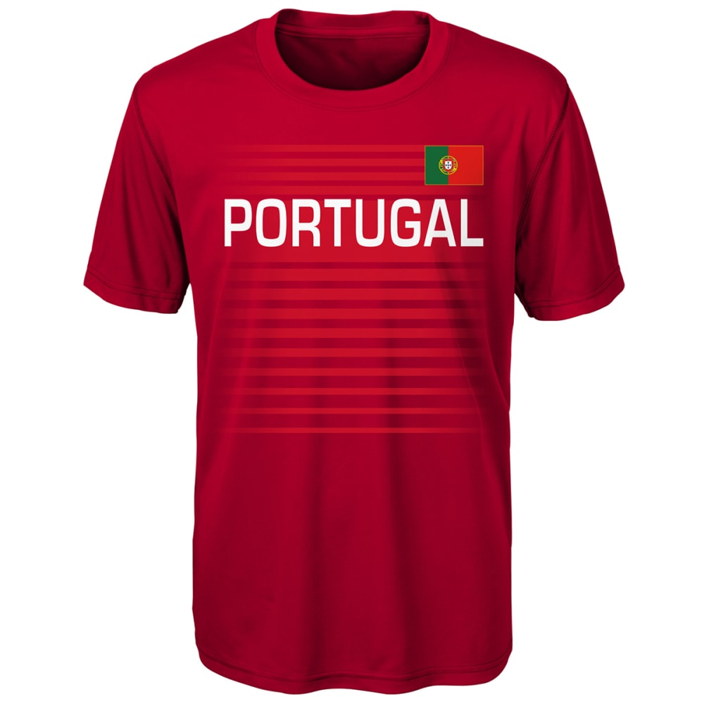 OUTERSTUFF Big Boys' Portugal Performance Short-Sleeve Tee - RED