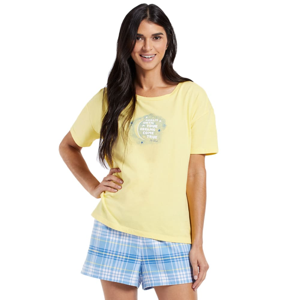 LIFE IS GOOD Women's Dream Moon Sleep Tee - HAPPY YELLOW