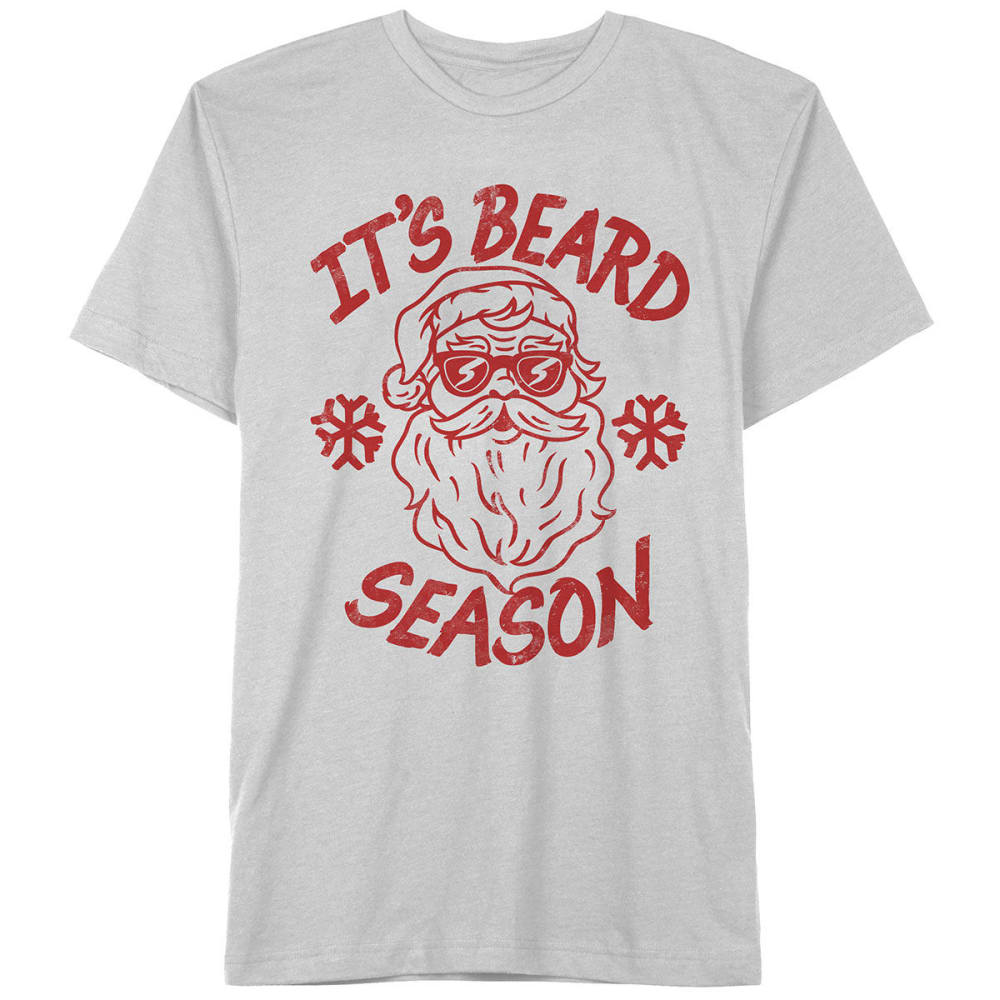 HYBRID Guys' Beard Season Short-Sleeve Christmas Tee - WHITE