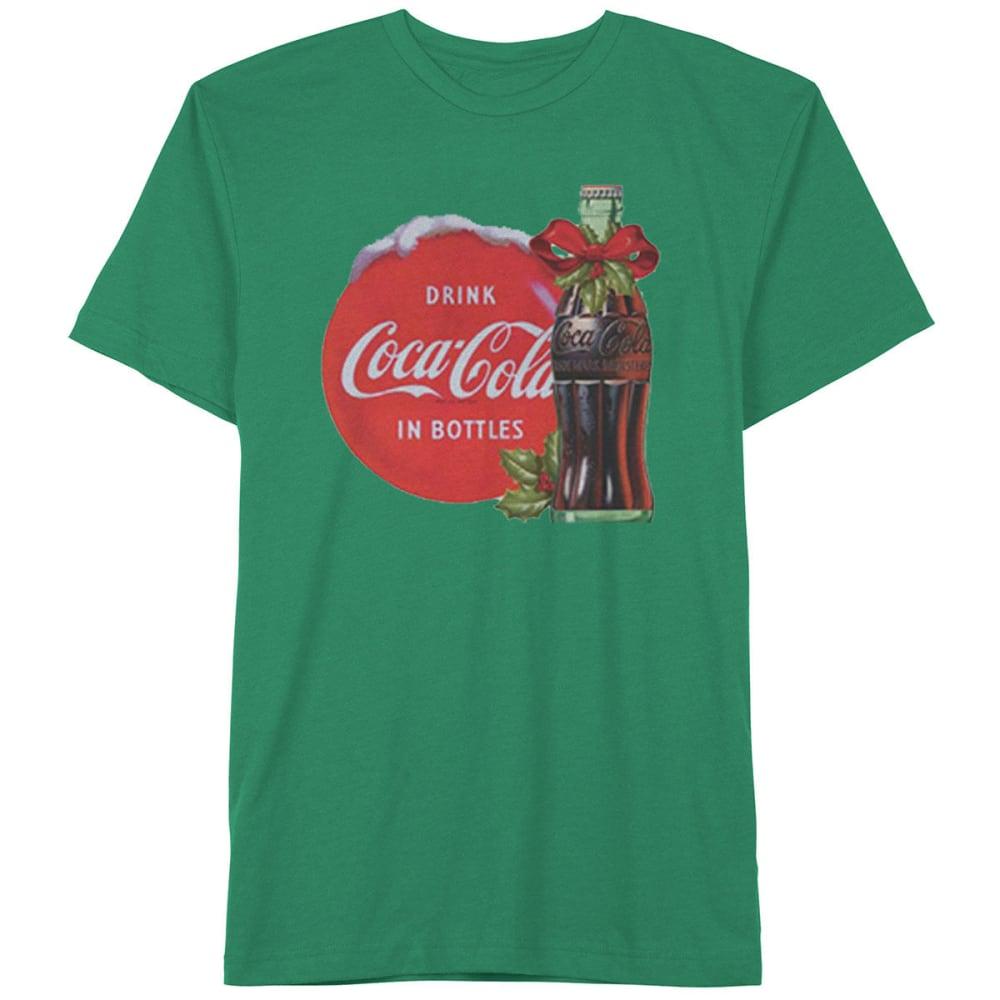 HYBRID Guys' Coca-Cola 'Tis The Season Short-Sleeve Christmas Tee - KELLY GREEN