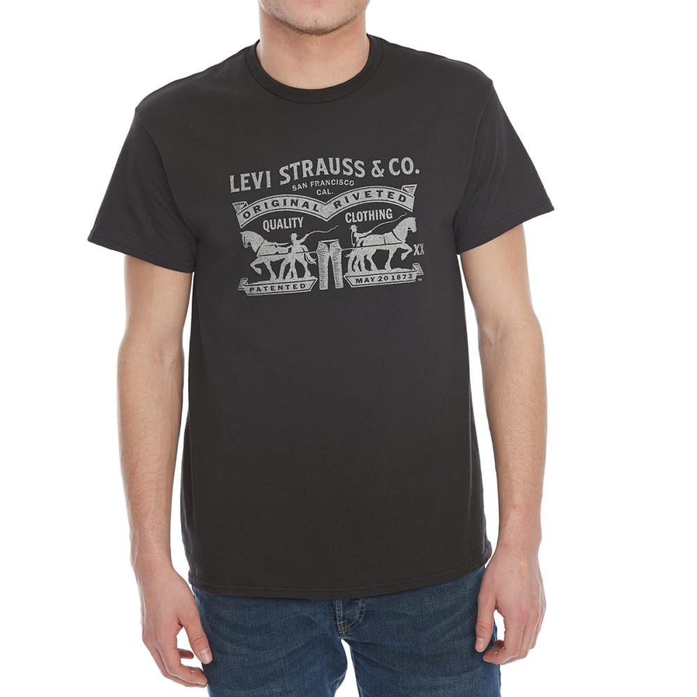 LEVI'S Guys' Vellum Short-Sleeve Tee - BLACK