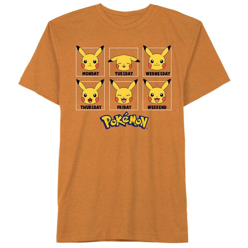 HYBRID Big Boys' Everyday Pokemon Short-Sleeve Tee - FREESIA/SPICE ORANGE