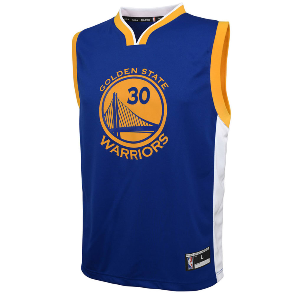 GOLDEN STATE WARRIORS Big Boys' Stephen Curry #30 Name and Number Jersey - BLUE