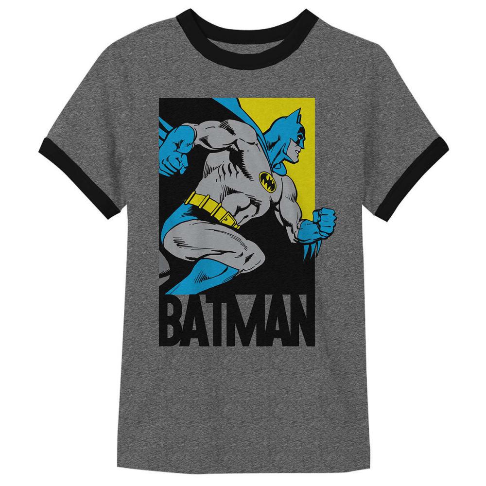 HYBRID Big Boys' Simply Batman Short-Sleeve Tee - CHARCOAL SNOW