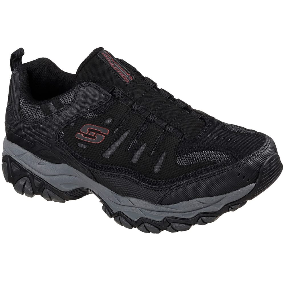 SKECHERS Men's After Burn-M. Fit Sneakers, Wide - BLACK/CHAR BKCC