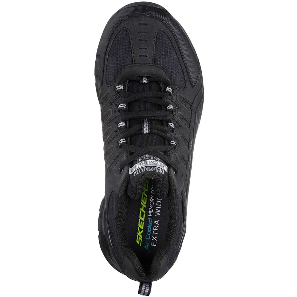 SKECHERS Men's Relaxed Fit: Outland 2.0 - Rip-Staver Sneakers - BLACK-BBK