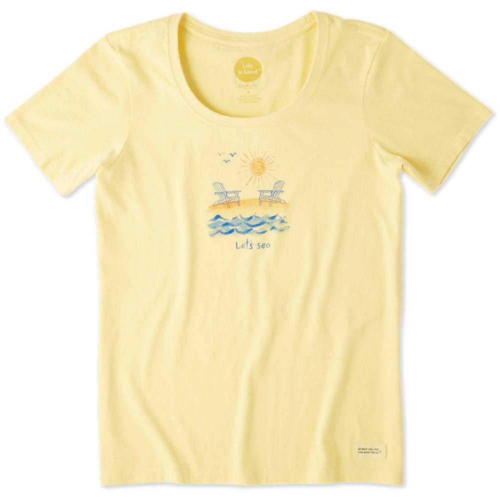 LIFE IS GOOD Women's Let's Sea Crusher Scoop Short-Sleeve Tee - HAPPY YELLOW