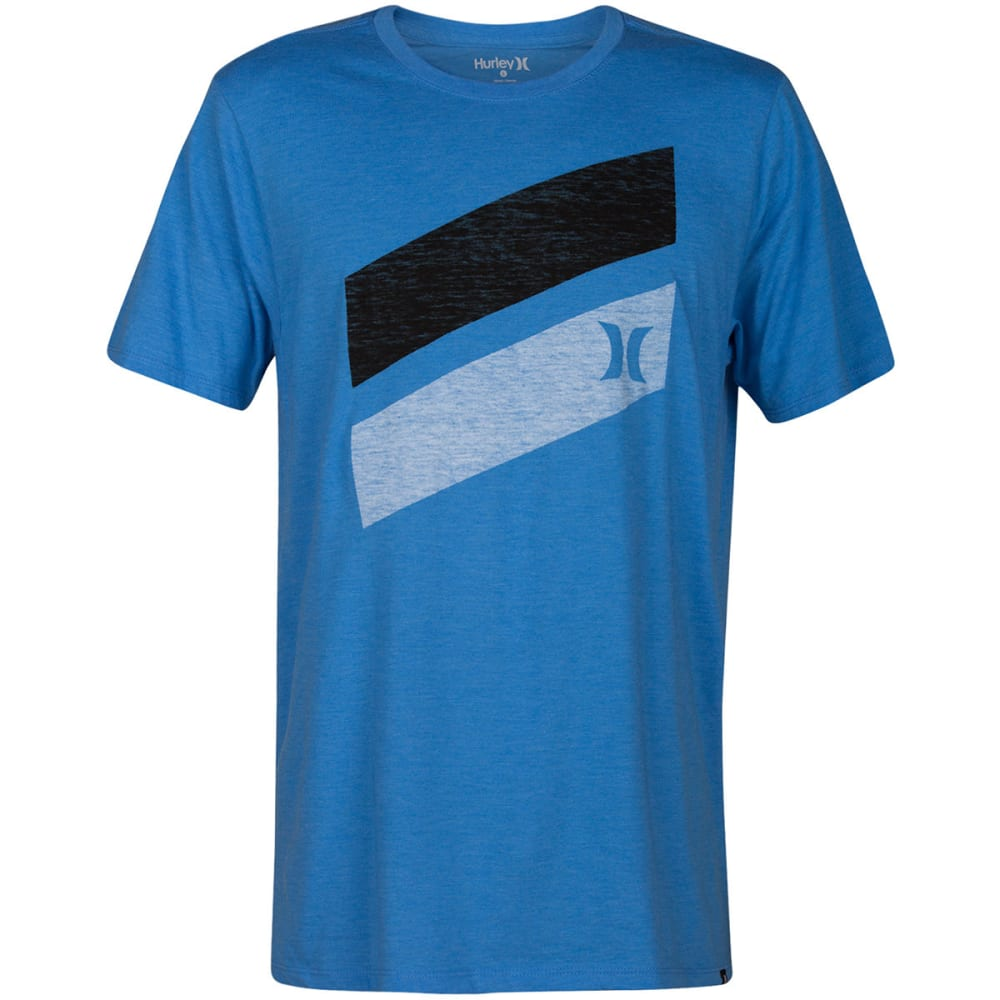Hurley Guys' Icon Slash Push Through Short-Sleeve Tee - Blue, S