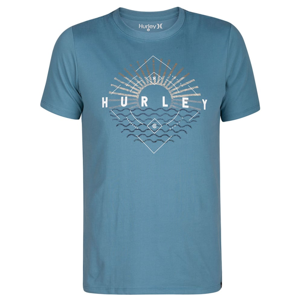 Hurley Guys' Morning View Dri-Fit Short-Sleeve Tee - Blue, XXL