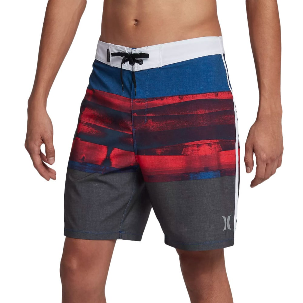 Hurley Guys' Phantom Roll Out Boardshorts - Black, 32