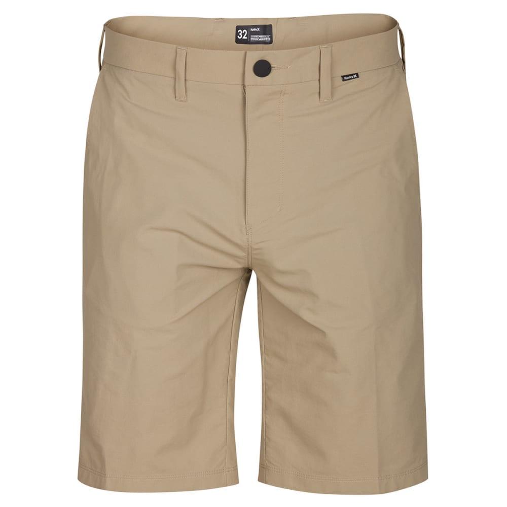 Hurley Guys' Dri-Fit Chino Shorts - Brown, 28