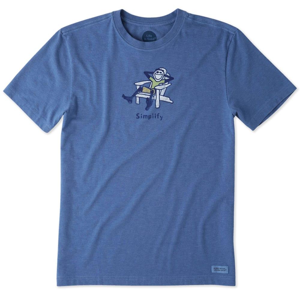 LIFE IS GOOD Men's Classic Adirondack Crusher Short-Sleeve Tee - BLUE