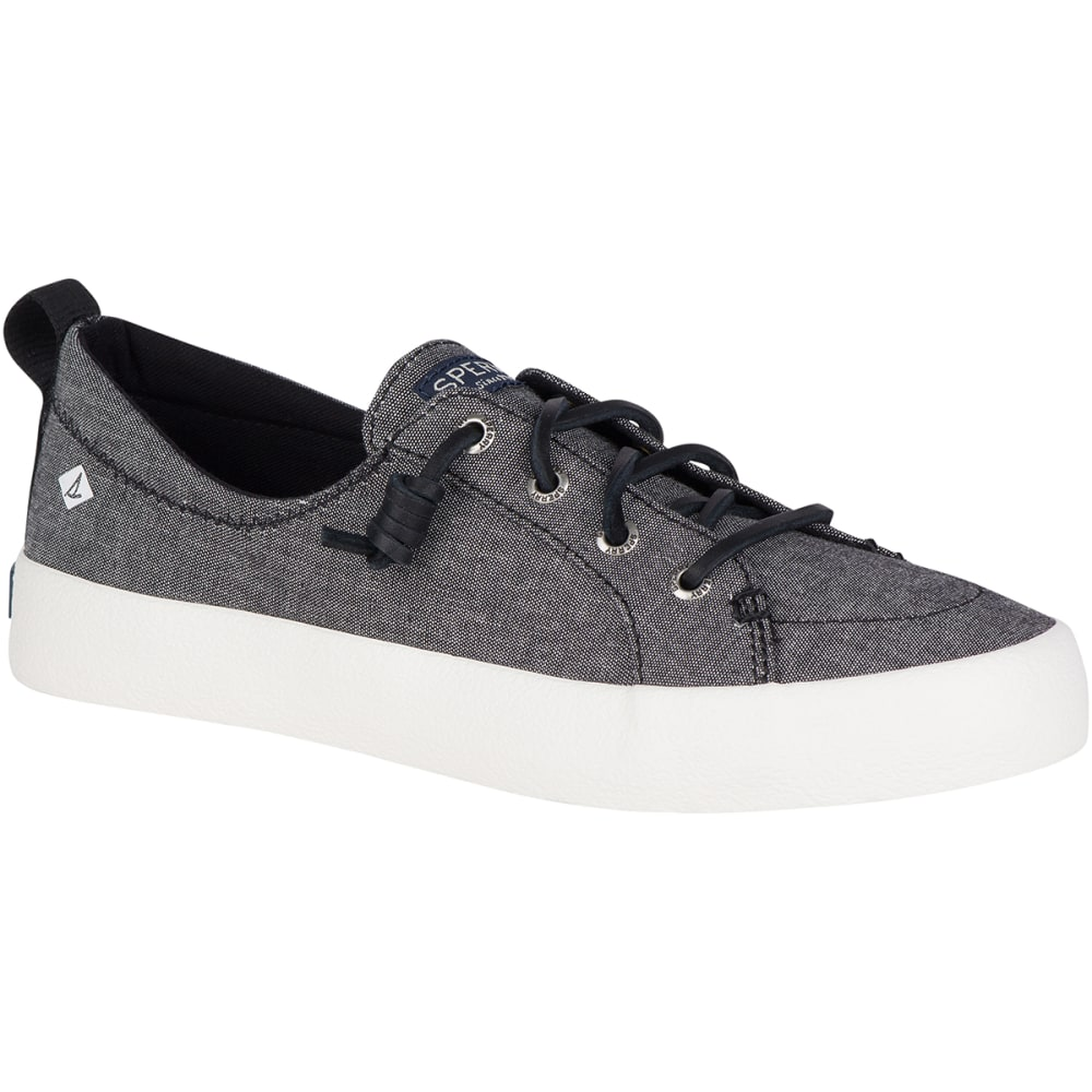 SPERRY Women's Crest Vibe Crepe Chambray Boat Shoes - BLACK-STS81471