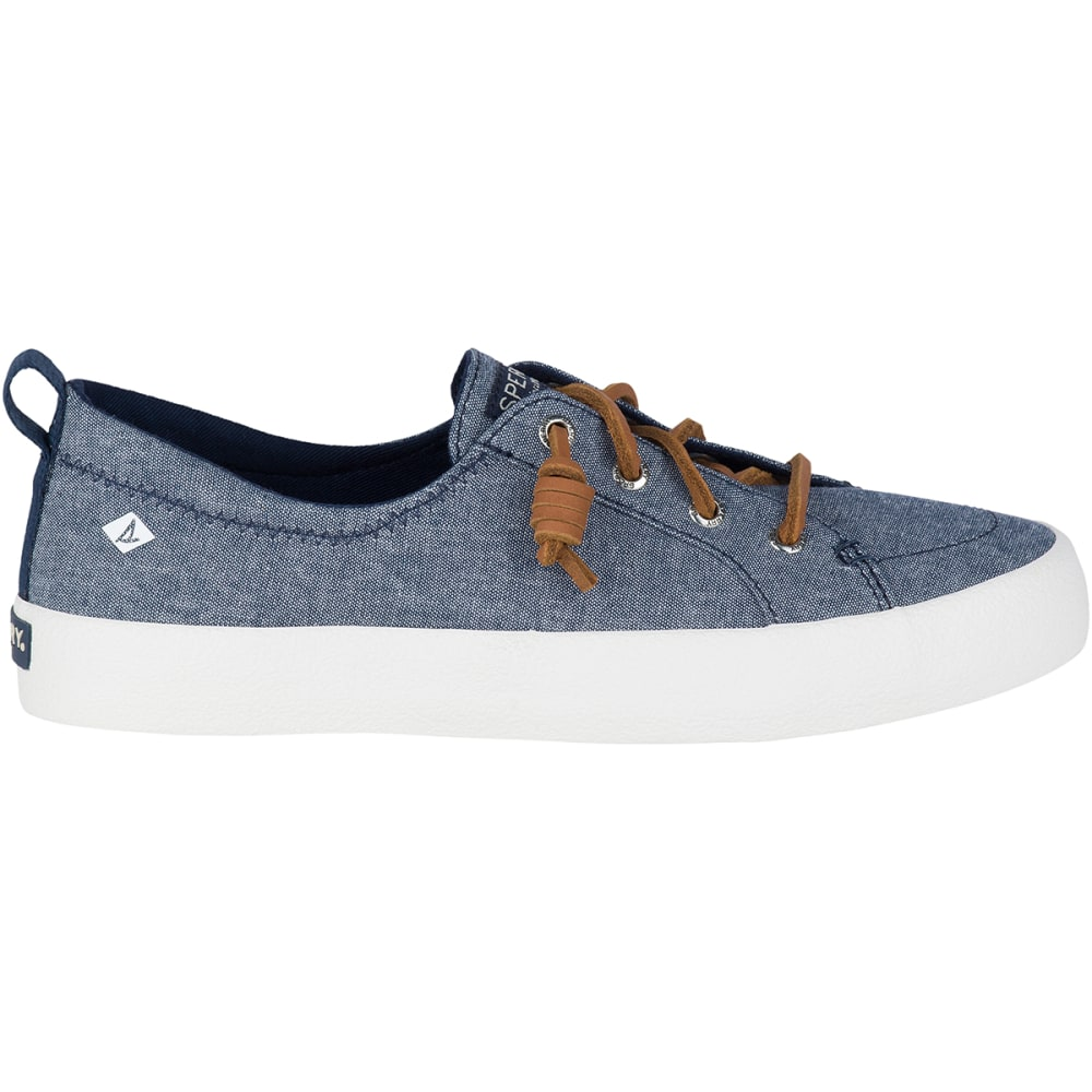 SPERRY Women's Crest Vibe Crepe Chambray Boat Shoes - NAVY-STS81469