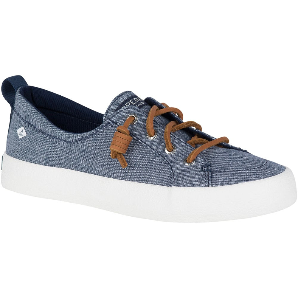 SPERRY Women's Crest Vibe Crepe Chambray Boat Shoes 6.5