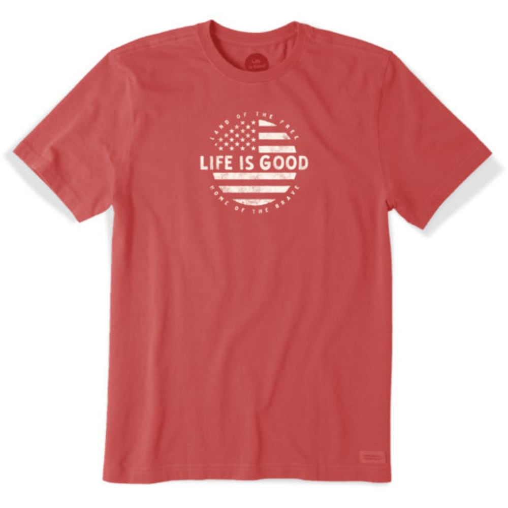 LIFE IS GOOD Men's Classic Circle Flag Crusher Tee - RED