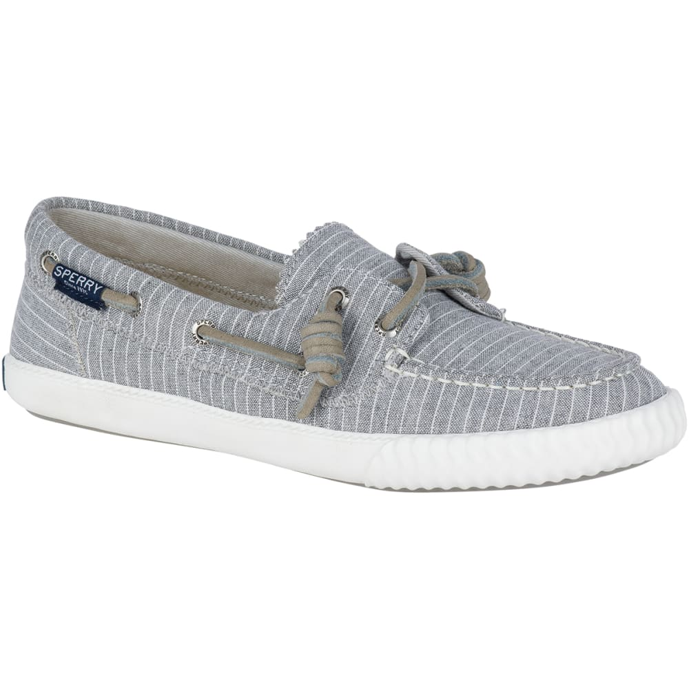 SPERRY Women's Sayel Away Pinstripe Boat Shoe Sneakers - GREY/WHITE