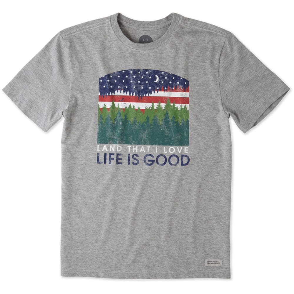 LIFE IS GOOD Men's Land That I Love Crusher Tee - GREY
