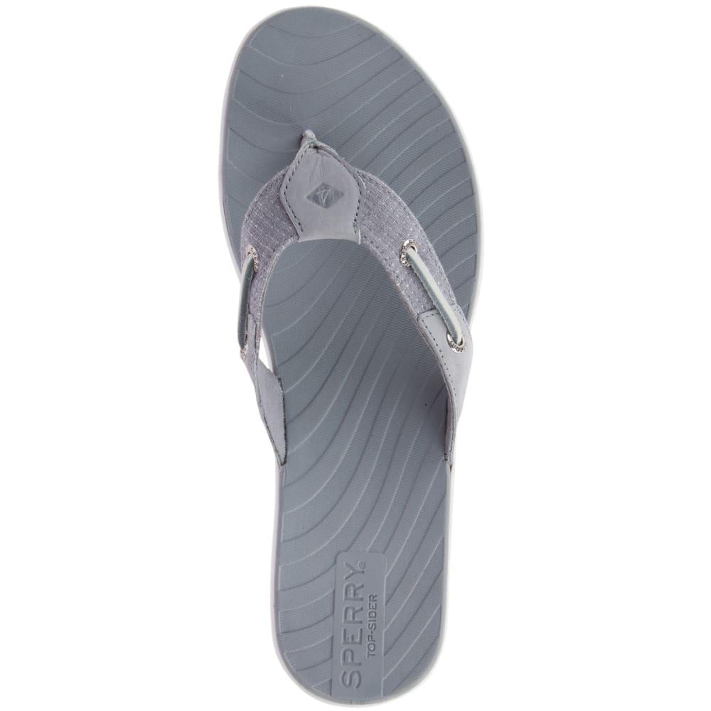 SPERRY Women's Seabrook Surf Two-Tone Flip Flops - GREY