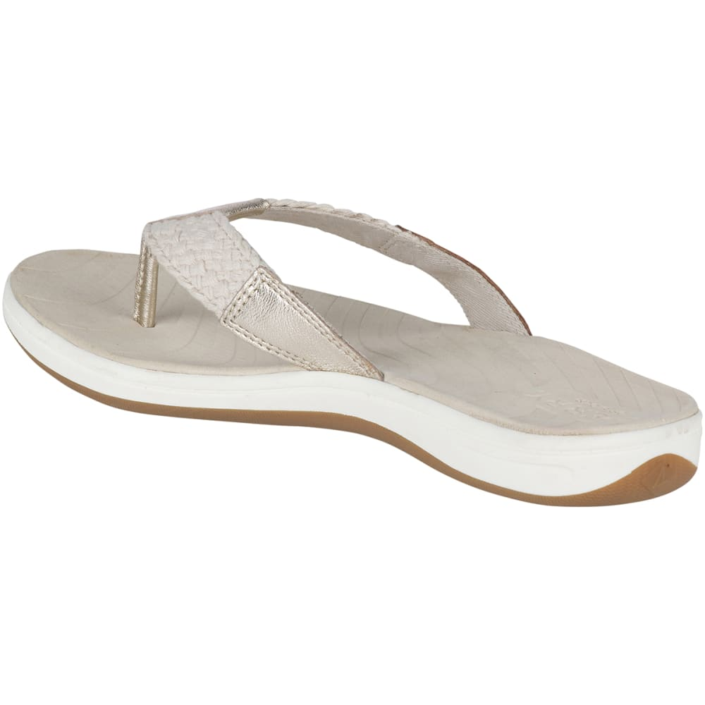 SPERRY Women's Seabrook Swell Flip Flops - PLATINUM