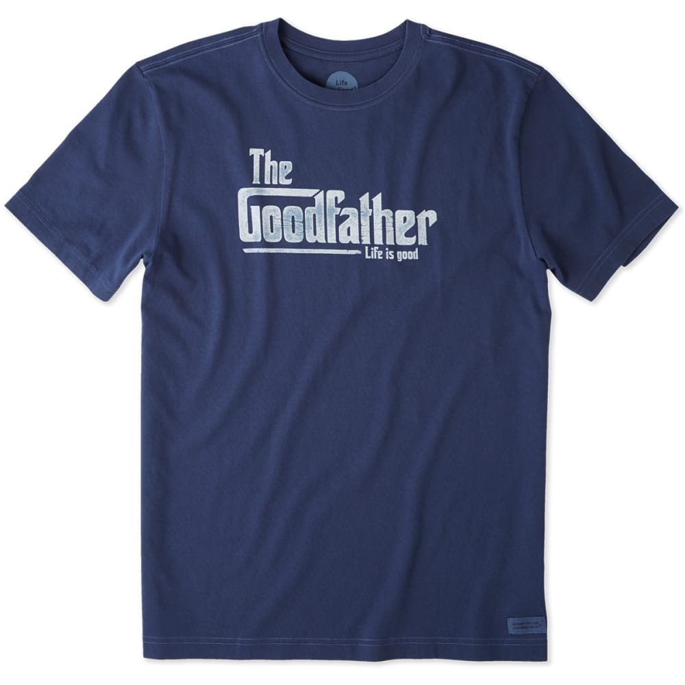 Life Is Good Men's The Goodfather Crusher Short-Sleeve Tee - Blue, XXL