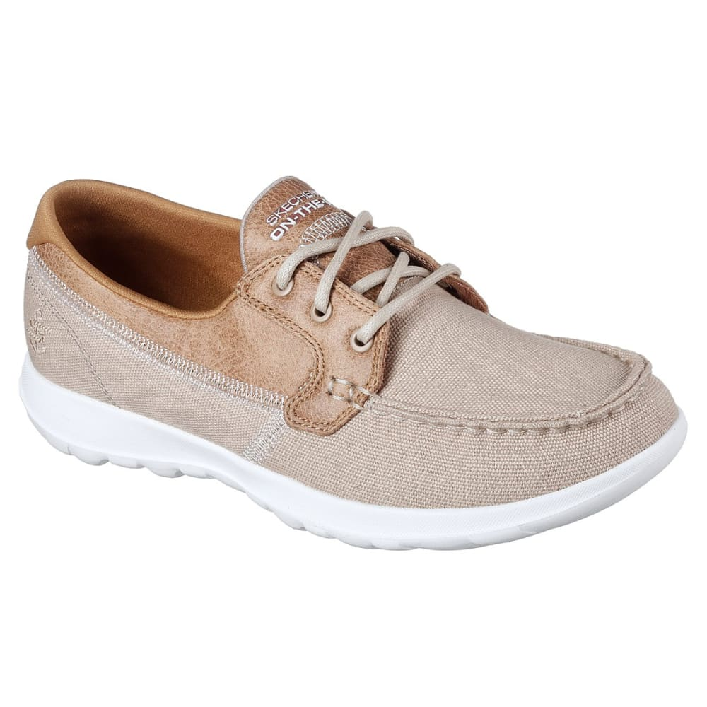 SKECHERS Women's GOwalk Lite -  Coral Boat Shoes - NATURAL-NAT