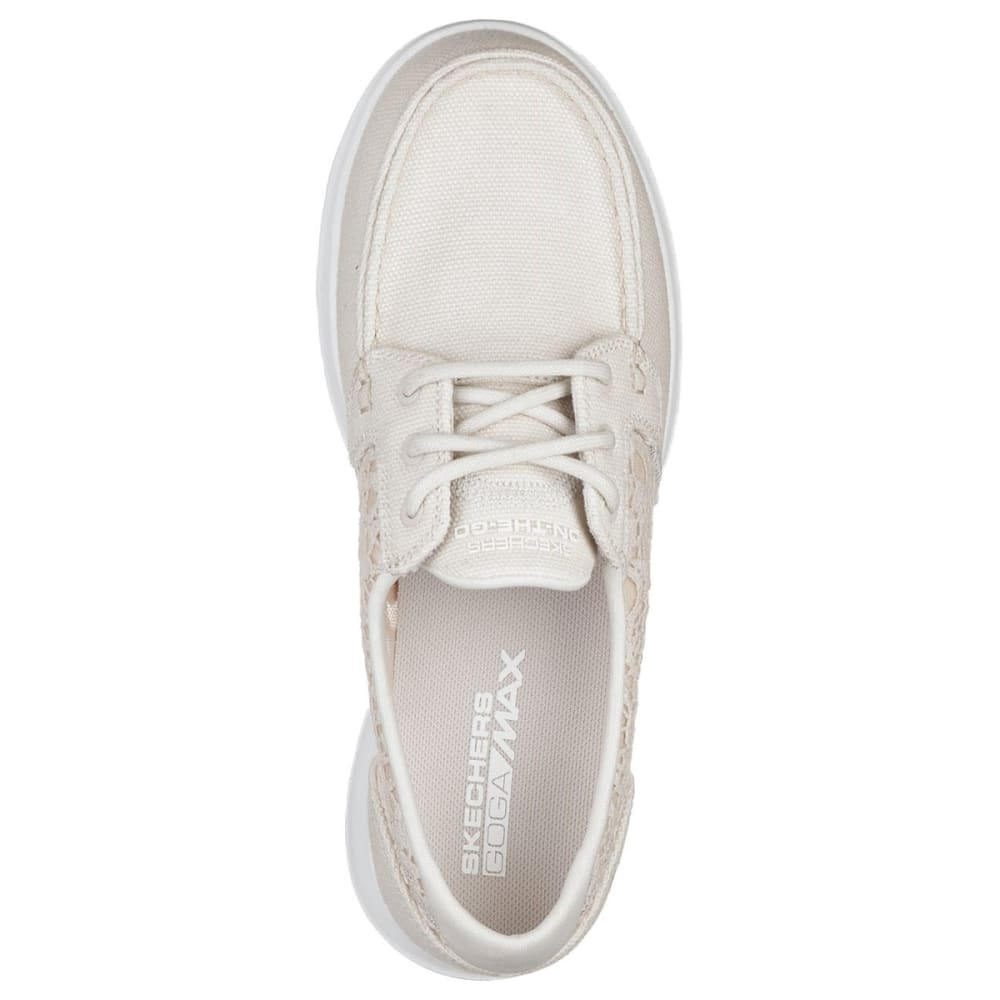 SKECHERS Women's GOwalk Lite - Mira Boat Shoes - NATURAL-NAT