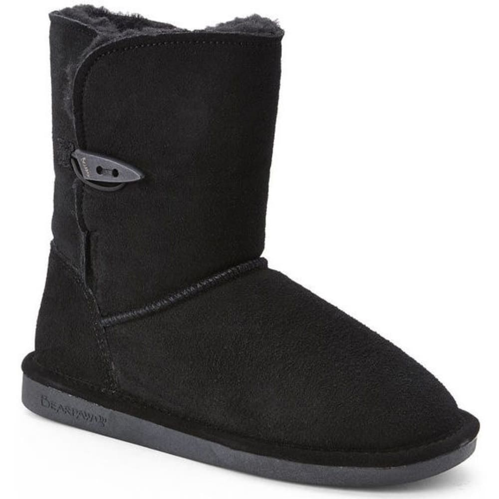 BEARPAW Women's Victorian One-Toggle Mid Boots - BLACK-011