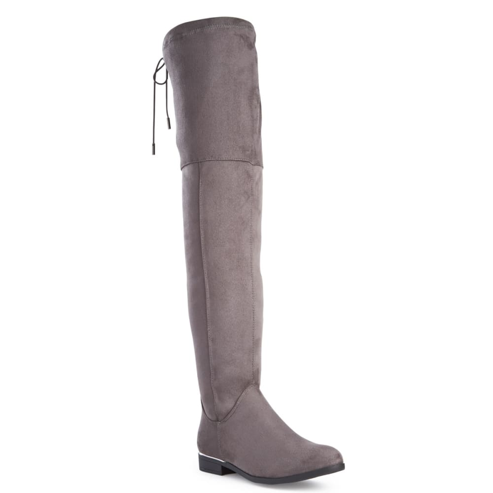 WANTED Women's Cordele Stretch Over-The-Knee Boots - GREY