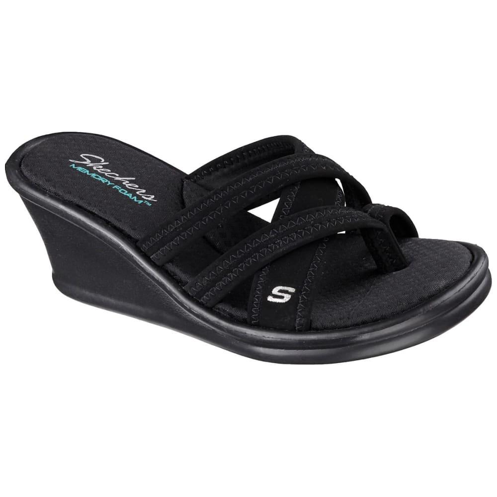 Skechers Women's Rumblers - Young At Heart Sandals, Wide - Black, 9