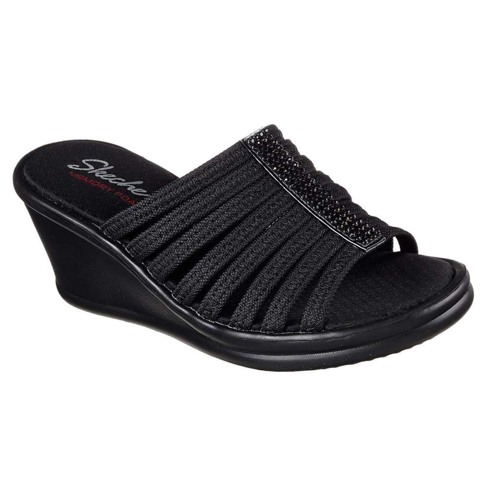 SKECHERS Women's Rumblers -  Hotshot Sandals - BLACK-BLK