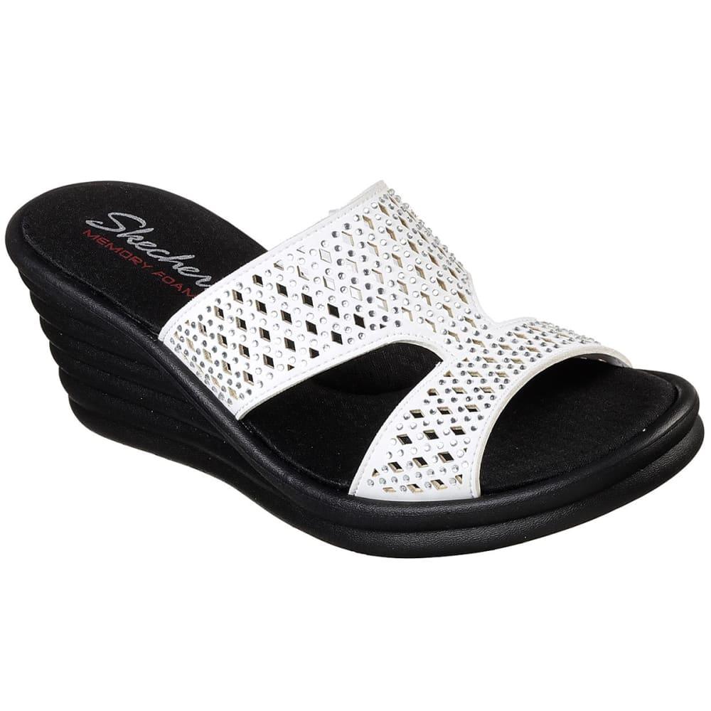 Skechers Women's Rumblers Wave - Ibiza Summer Sandals - White, 6