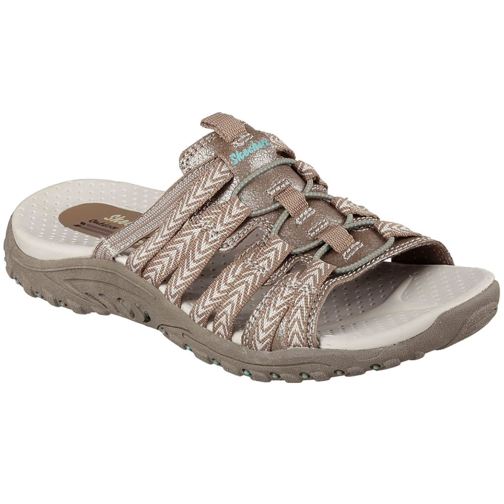 SKECHERS Women's Reggae Repetition Sandals - TAUPE
