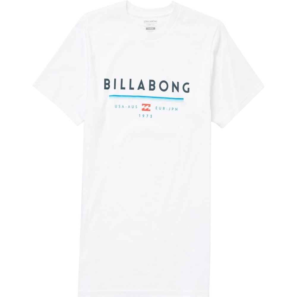Billabong Young Men's Unity Tee Shirt - White, S