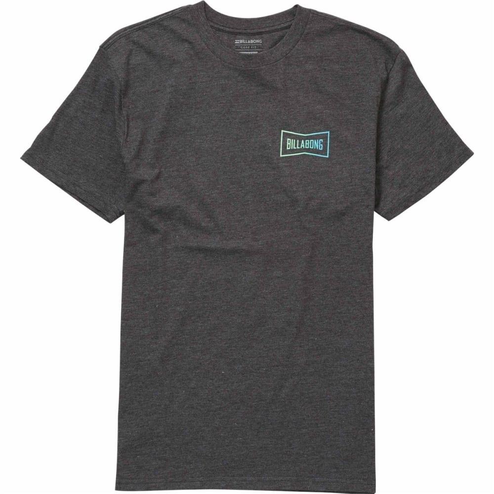BILLABONG Men's CRAFTSMAN TEE Shirt - BLACK HTR-BKH
