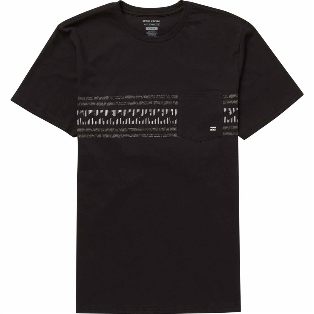BILLABONG Young Men's Team Stripe Tee Shirt - BLACK-BLK