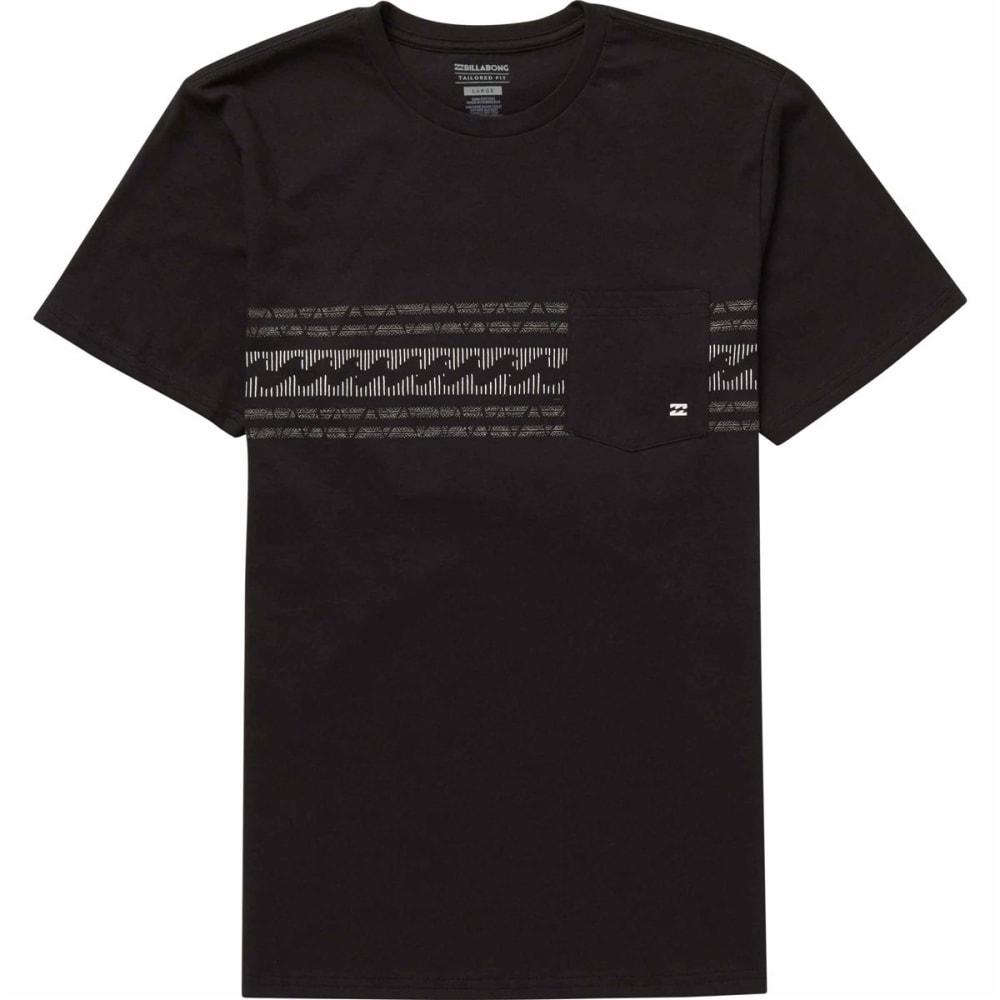 Billabong Young Men's Team Stripe Tee Shirt - Black, S